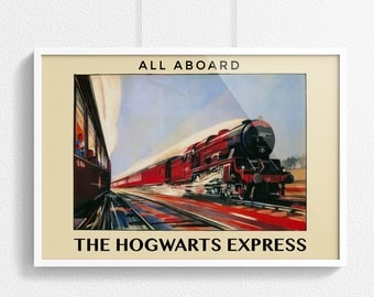 The Hogwarts Express - Poster, Harry Potter, Travel Poster, Train