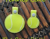 Embroidery Machine Download Design File - Tennis Ball Bag Tag Key Fob - TennisBall - TWO Sizes INCLUDED!!!