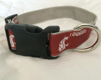 Washington State Cougars Dog Collar