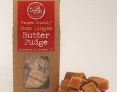 Proper Crumbly  Stem Ginger Scottish Butter Fudge