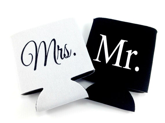 Mr and Mrs Can Cooler Set