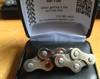 Cufflinks - Bicycle chain