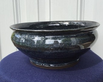 Large Wide-Mouth Bowl  (stormy night)
