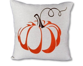 Pumpkin on Vine - Fall pillow cover