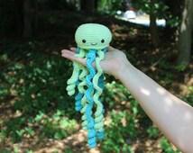 Crochet Jellyfish / Jellyfish Custom / Baby Shower Gift / Baby Toy / Cute Jellyfish Toy