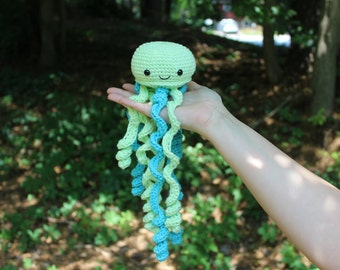 Crochet Jellyfish / Jellyfish Custom / Baby Shower Gift / Baby Toy / Cute Jellyfish Toy