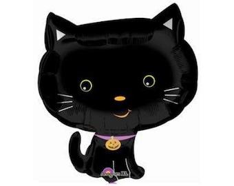 Black Cat Balloon - Jumbo Mylar Balloon