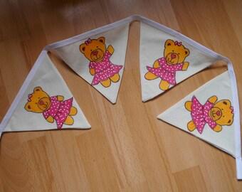 Bunting girls painted teddie