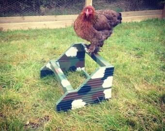 Camouflage Chicken perch
