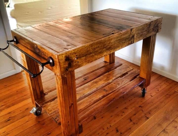 Butchers Block Style Island Bench Rustic on by  : il570xN8409333111weo from www.etsy.com size 570 x 436 jpeg 68kB