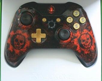 Brand New Gears of War Custom Xbox One Bluetooth model Controller