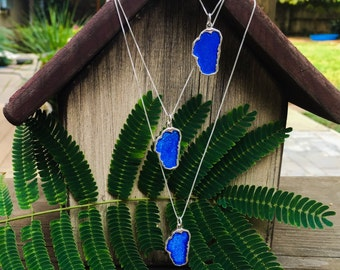 Lake Tahoe Blue Pendant - Lake Tahoe Charm - Custom Tahoe Jewelry - Tahoe Blue - Lake Tahoe