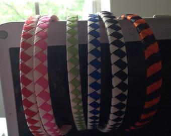 Satin woven headbands