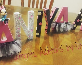 Minnie Mouse Themed Letters