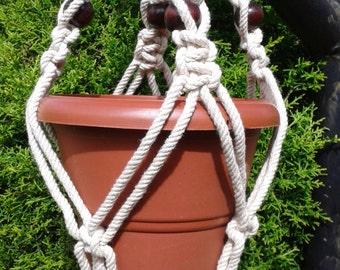 "31""Natural macrame plant hanger,pot holder,hanging planter/indoor/outdoor,birdfeeder, cotton rope planter,"