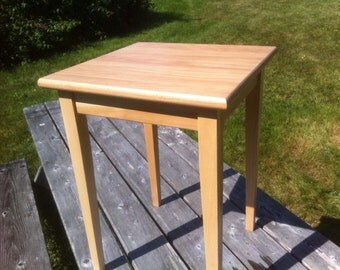 Beech End Table / Side Table