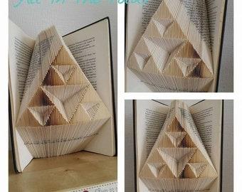 Geometric Triangle MMf book folding pattern