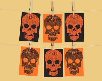 Halloween Skull Postcard PACK
