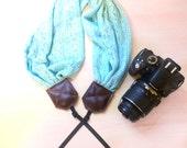SALE Light Blue Lace Scarf Camera Strap