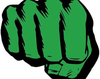 Hulk Fist Iron On T Shirt / Pillowcase Transfer