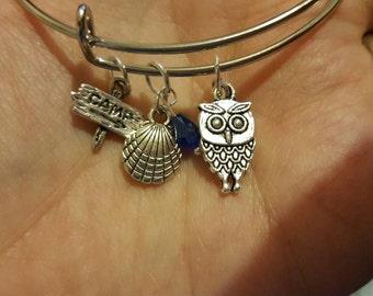 Percy Jackson and Annabeth Chase percabeth bangle bracelet