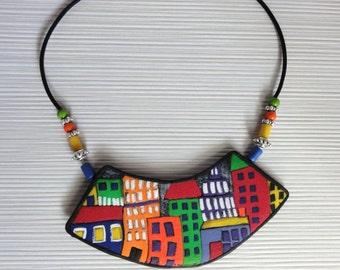 "Necklace ""city"""
