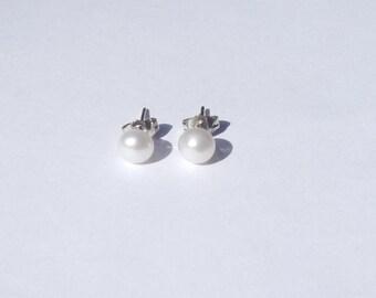 Pearl Earrings, Pearl Stud Earrings, Freshwater Pearls, Pearl Studs, Wedding Jewelry, Cultured Pearl Earrings, Pearl Jewelry, Bridal Earring