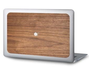 Sticker MacBook wood - Walnut