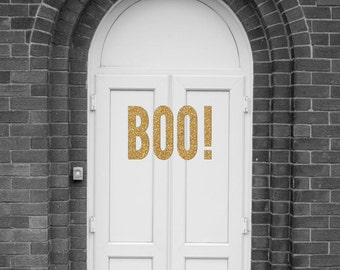 "Gold Sparkly ""Boo!"" Banner - Digital Printable Instant Download"