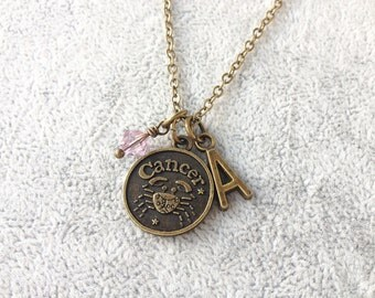 Cancer necklace,zodiac Cancer,Cancer zodiac necklace,zodiac jewelry Cancer,zodiac necklace,zodiac sign necklace,horoscope necklace