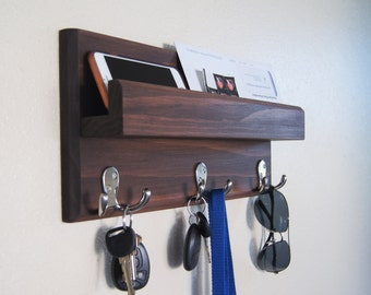 Coat Rack with Mail Storage Ledge