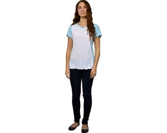 Women V-neck Bamboo Jersey T-shirt, bamboo shirts, hemp clothing, t shirt company, organic cotton t shirts, bamboo clothing, hemp shirts