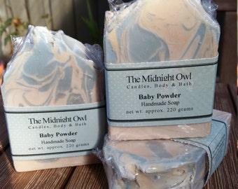 Baby Powder Handmade Soap/ Shea Butter Soap/ Artisan Soap