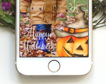 Happy Halloween Geofilter Halloween Geofilter Happy Fall Geofilter Fall Geofilter Autumn Geofilter Trick or Treat Pumpkin Geofilter