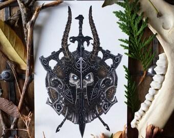 Draugr Deathlord, Skyrim Print | Limited Edition | The Elder Scrolls V: Skyrim Inspired