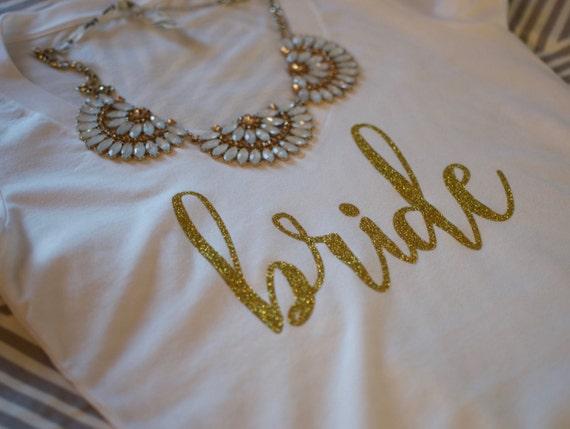 Bride V-neck Shirt. Bride Gift. Bridal Shower Gift. Bride Shirt. Bride T-shirt. V-neck Tshirt. Black t-shirt. Bride to be Gift. Bride tshirt