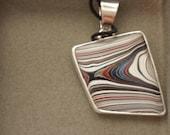 Fordite/Detroit Agate medium size pendant