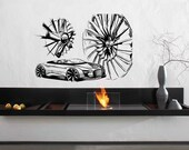 Sport car vehicle machine motor car wheel drive Kids Room Children Stylish Wall Art Sticker Decal 8370