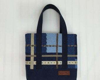 Patchwork Blues Handbag