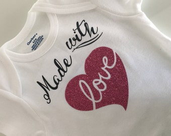 Made with Love - Little girl onesie