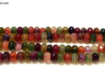 Colorful Round Agate Beads Strands