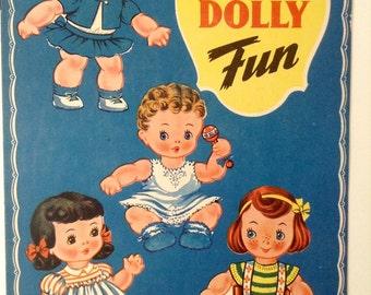 SWEET 1944 Paper Dolly Fun From Saafield