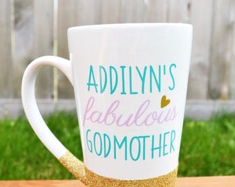 Godmother Coffee Mug // Gift for Godmother // Godmother Gift // Fabulous Godmother Mug // Godmother Cup  //  Godmother gift under 20