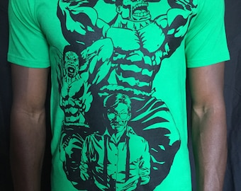 Hulk tshirt Bruce Banner t-shirt, Marvel inspired Original design.