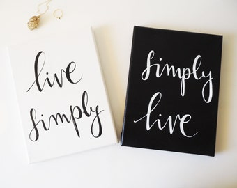 Live simply etsy for Live simply wall art