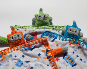 READY TO SHIP: Robot Lovey/ Security Blanket/ Comforter