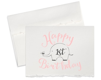 Happy 1st birthday card happy birthday card for first birthday baby girl baby birthday party card greeting card second birthday cards