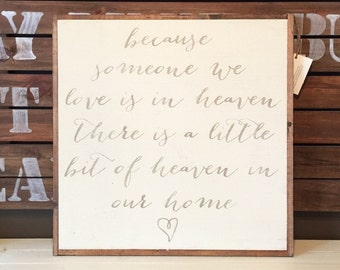 2'X2' Someone We Love Is In Heaven