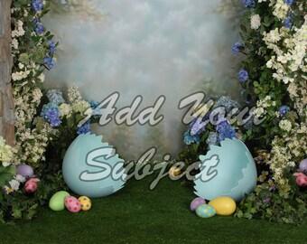 Digital Photo Background Easter Download Backdrop