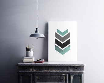 Geometric arrow - Printable art , Instant download , wall print